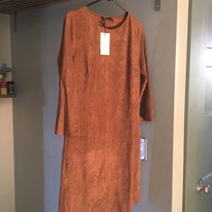 NWT PIT AMSTERDAM SUEDE BROWN DRESS